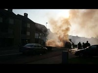 Felle brand in Bredene