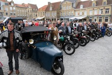 Motorcycle run 'Where is Anna' 1918-2018 deed Veurne aan
