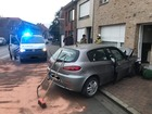 Auto ramt gevel in Torhout